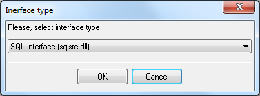 Selecting the interface type